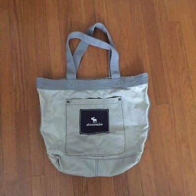 abercrombie Grey Logo Fabric Tote Shopper Bag EUC for sale  San Francisco