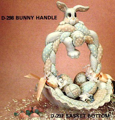 Ceramic Bisque Basket Soft Sculptured Bunny Donas 298 U-Paint Ready To Paint