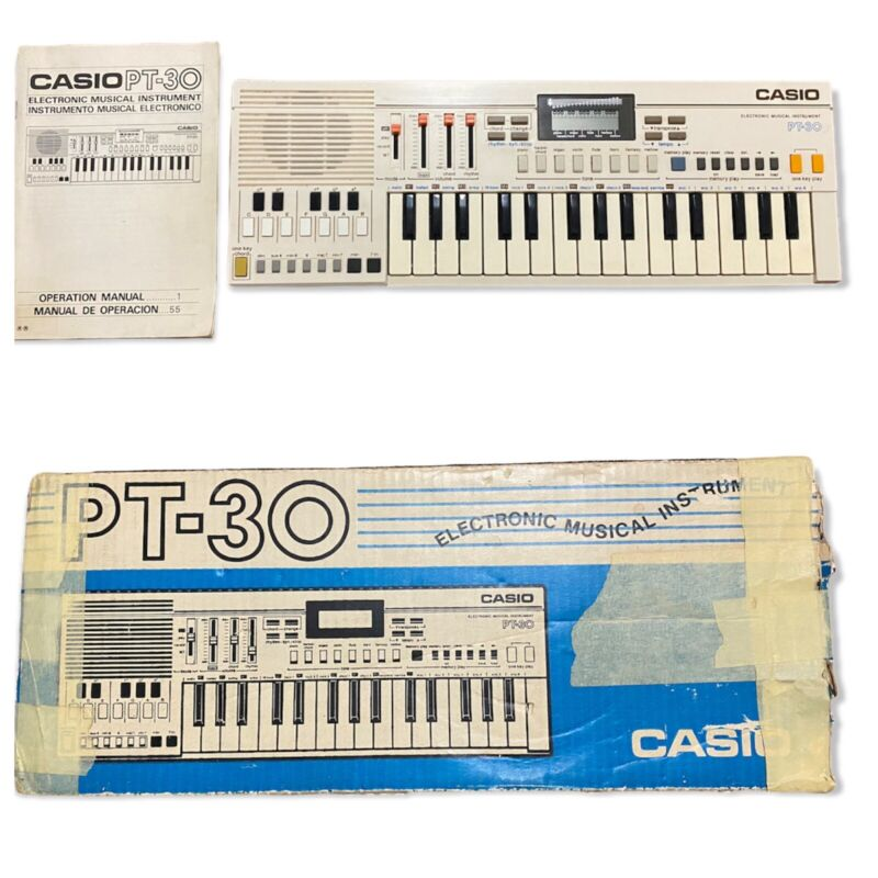 Vintage Casio PT-30 Electric Keyboard Battery Powered Organ Piano Synthesizer