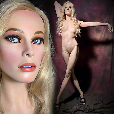 Greneker Mannequin Female Glass Eyes Teeth Dramatic Full Realistic Vintage