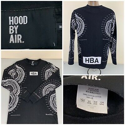 "Hood By Air HBA ""Intellect"" Shirt Black Long Sleeve Medium - Very Good Condition"