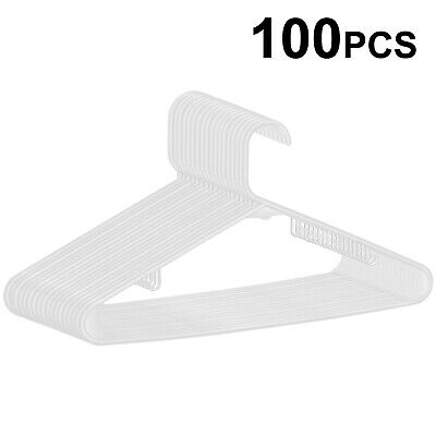 Premium Plastic Hangers Pack of 100 Heavy Duty Suit Camisole Hangers