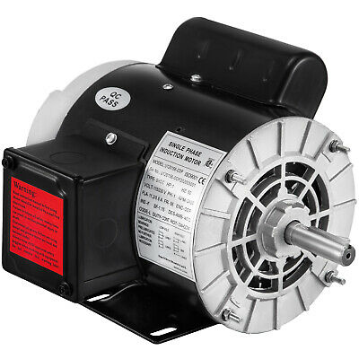 1hp Air Compressor Electric Motor 3450rpm 115230v 58keyed Shaft Single Phase