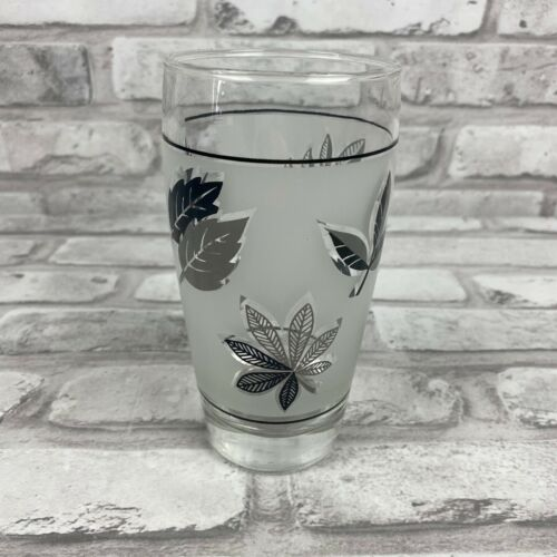 Vintage Libbey Silver Leaf Glasses Cocktail Frosted Tumblers 6 Available