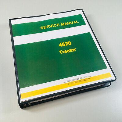 Service Manual For John Deere 4520 Tractor Factory Repair Shop Technical Binder