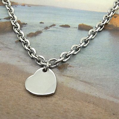 Ankle Bracelet Stainless Steel Anklets Heart Charm 9-11 Inches SSA102