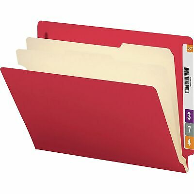 Smead Classification Folders 2 Dividers Letter 10bx Red 26838