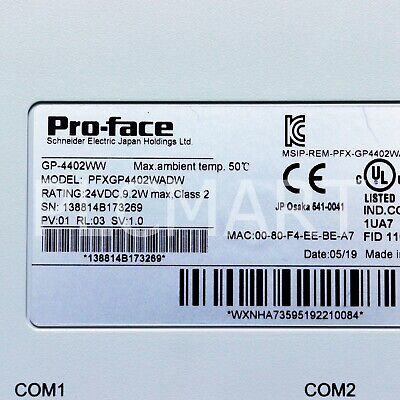 """(USED) PROFACE PFXGP4402WADW TOUCH PANEL Free """"""""FedEx"""""""" Shipping!"""
