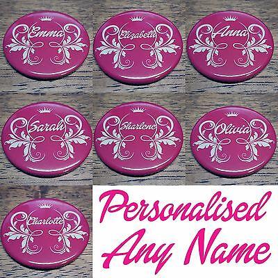 Personalised PRINCESS Compact Handbag Purse Makeup Bag Pocket Mirror (59mm) WOW