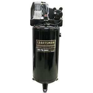 Craftsman Professional  60 Gallon Air Compressor, 3.1 RHP, Vertical Tank, Oil Lu