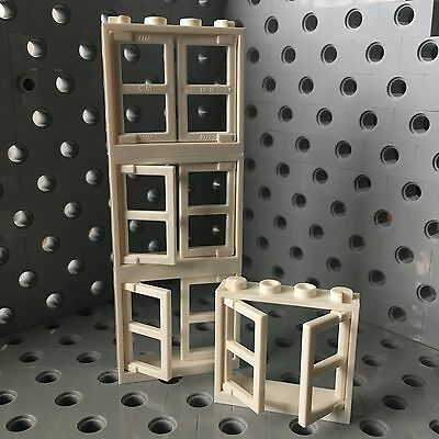 - Lego White Windows Frames 1x4x3 With Two Panels Wall Buildings Elements 4pcs