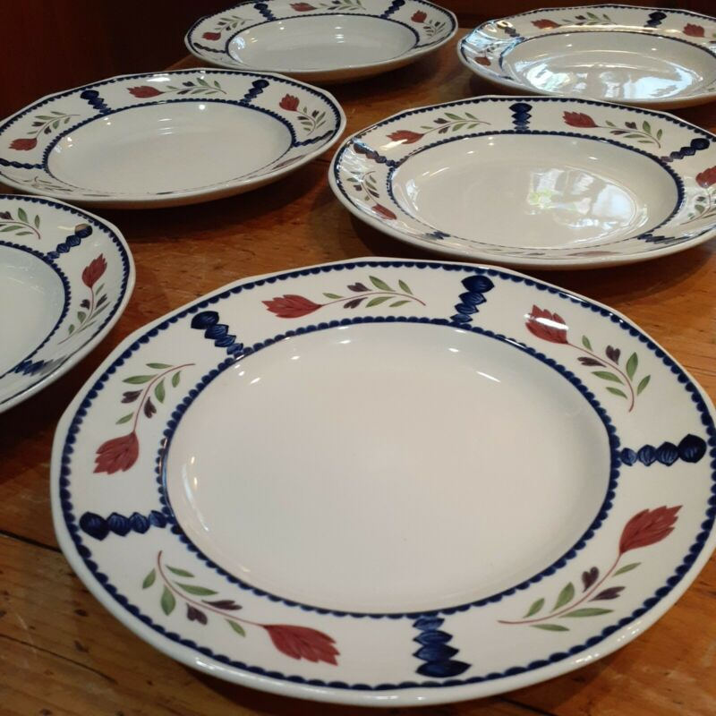 "Adams China Lancaster 9"" lunch or salad Plates set of 6"