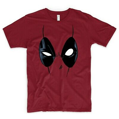 Deadpool T-Shirt Maske Marvel Dc X-Men Hulk Captian America Batman Spiderman - Captian America Mask