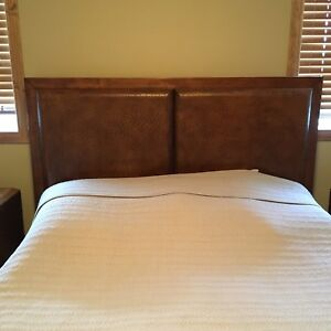 Solid wood queen size bed frame from Ashley furniture