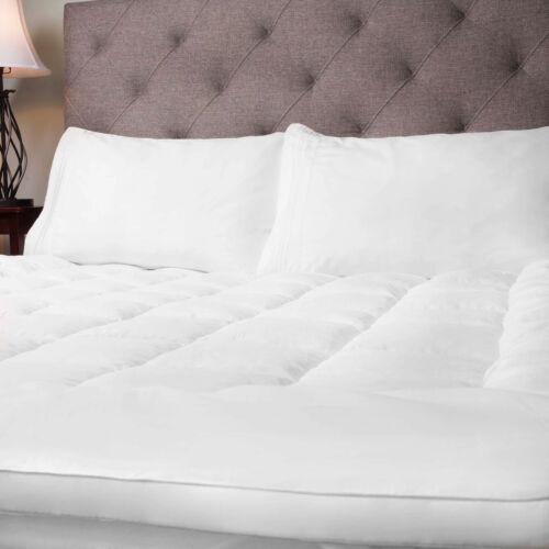 Hypoallergenic Polyester Down Alternative Fiber Bed Mattress Topper  4 Sizes Bedding