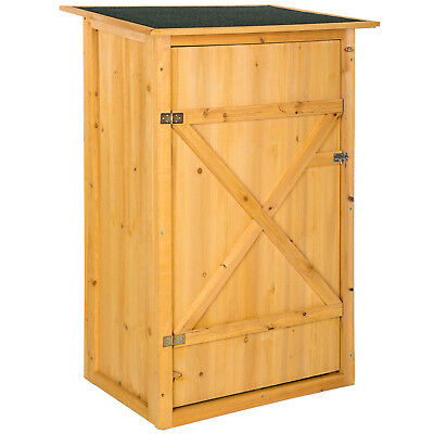 Caseta de exterior armario jardín herramientas cobertizo madera tejado plano