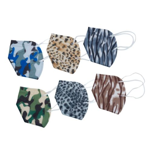 20  Camo 5 Layer Camouflage Filtering Kn95 Face Mask Pm2.5 Mouth & Nose Cover