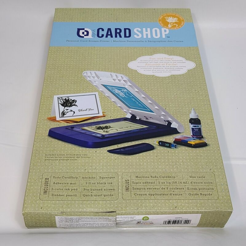 New in Box Yudu Card Shop Personal Card Screen Printer  - Make Cards Up To 5x7