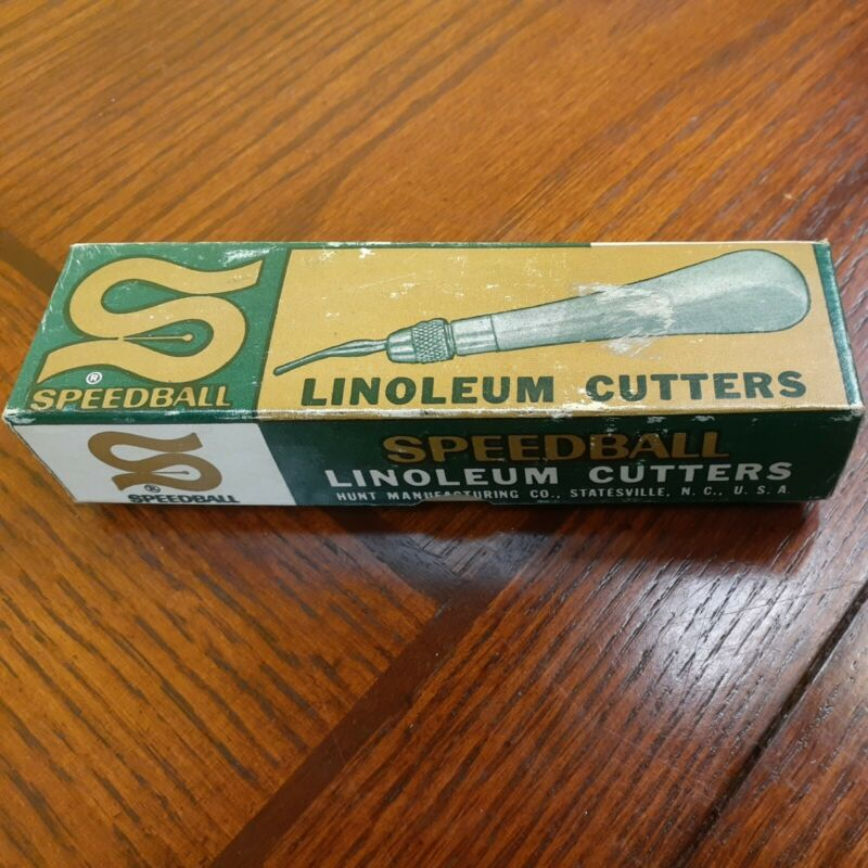 Vintage Speedball Linoleum Cutter Original in Box with Cutters