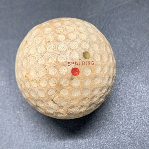 ANTIQUE OLD VINTAGE GOLF BALL MARKED TOP FLITE COLLECTORS ITEM GOLFING TATTY !