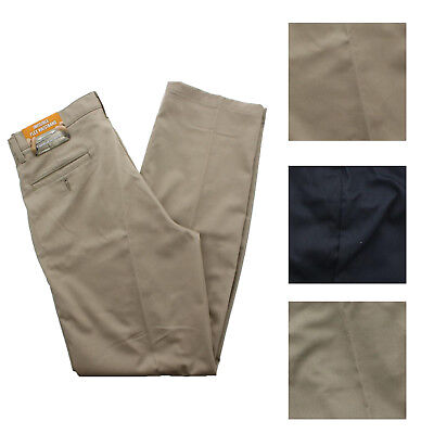 Wrangler's Advanced Comfort Pleated Front Khaki Dress Pants Casual Trousers