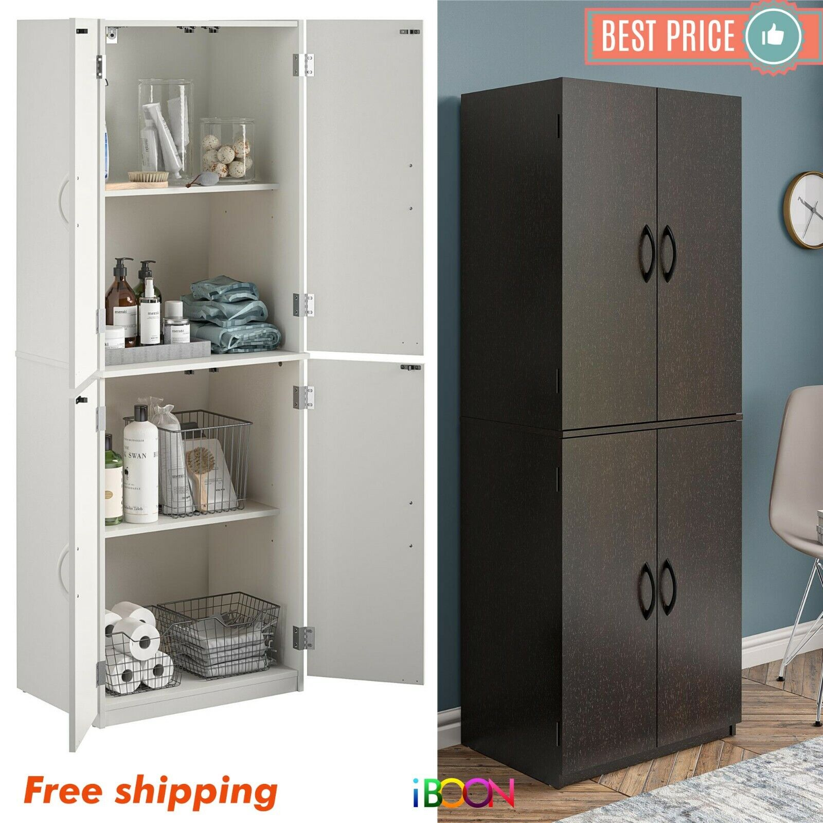 Kitchen Pantry Storage Cabinet Cupboard Organizer Wood Tall Shelves Furniture Cabinets Cupboards Home Garden Writup Net