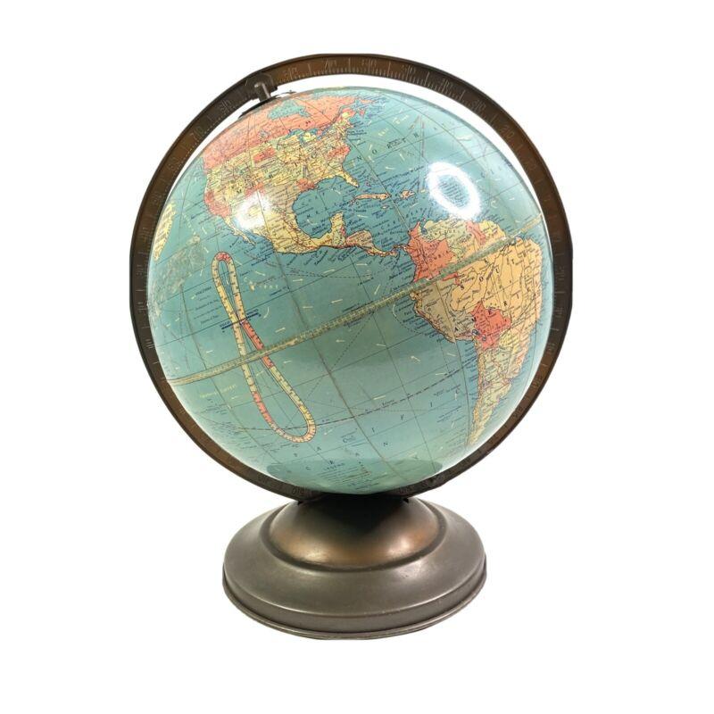 "Replogle Tabletop Globe 10"" Standard USSR Burma Rhodesia Ceylon Vintage"
