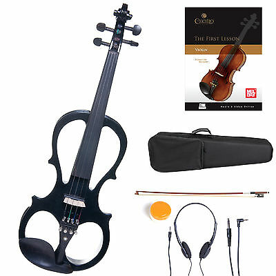 Cecilio Size 4/4 Electric Violin Ebony Fitted ~Black Style1