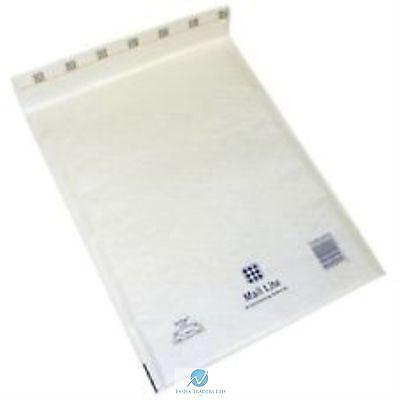 200 J6 J/6 White 300 x 440 mm Padded Bubble Wrap Mail Postal Bag Envelope NEW