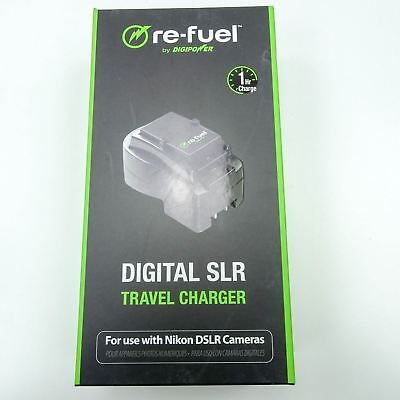 DIGIPOWER Re-Fuel Digital SLR Travel Charger for NIKON DSLR RF-DSLR-500N Black