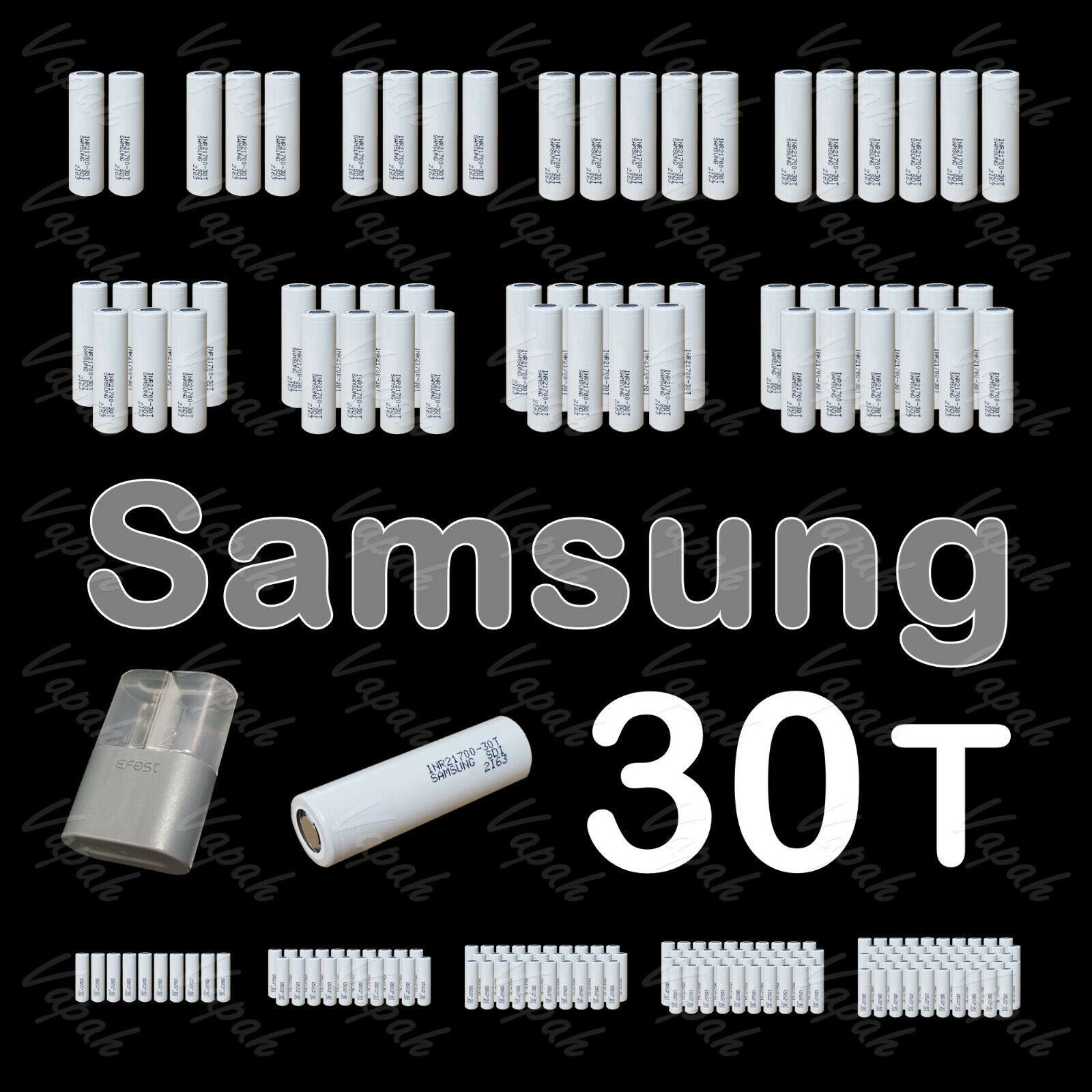 Samsung 30T 21700 Flat Top 3000mAh/35A Rechargeable Battery