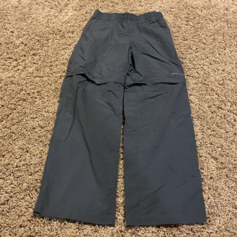 Columbia PFG Boys Size 8 Gray Convertible Pants, Nylon Free Shipping (MS1)