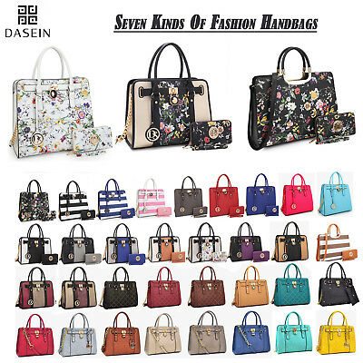New Dasein Womens Handbags Faux Leather Satchels Tote Bag Shoulder Bags Purse