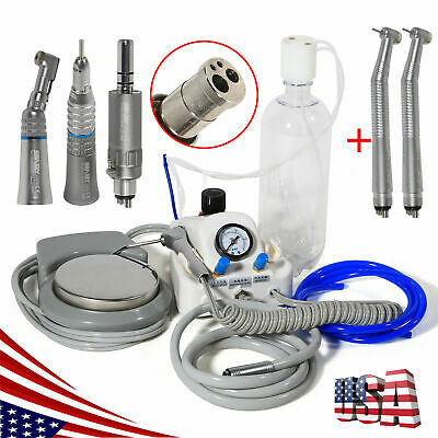 Dental Portable Air Turbine Unit 4h Work W Compressor High Low Speed Kit Set