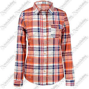 NEW LADIES WOMENS CHECK SHIRT LUMBERJACK LOOK LONG SLEEVED BLOUSE TOP WORK TOPS
