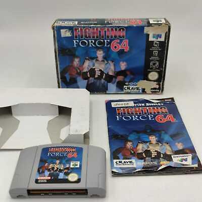 Fighting Force 64 Nintendo 64 N64 Spiel OVP Wie Neu Getestet Mit Anleitung