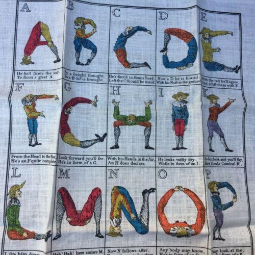 Comical Hotch Potch Alphabet Posture Master Linen Towel/Wall Hanging, New