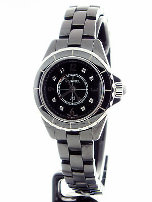 Chanel J12 Black Ceramic 29mm Quartz Diamind Dial H2569