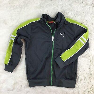 Puma Youth Kids Logo Track Jacket Zip Up Athletic Long Sleeve Gray Size 5 (Athletic Kids Track Jacket)