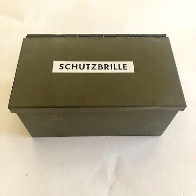 Vintage German Schutzbrille Welding Protective Safety Goggles Metal Box Case