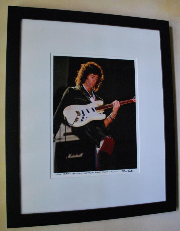 Rainbow/Deep Purple Ritchie Blackmore fine art photo Forum 1985 signed 3/100