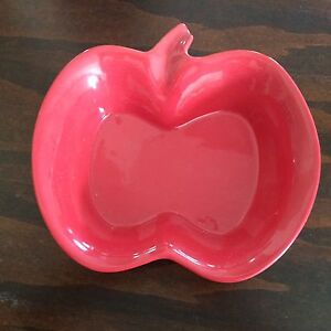 Perfect condition red apple ceramic dish