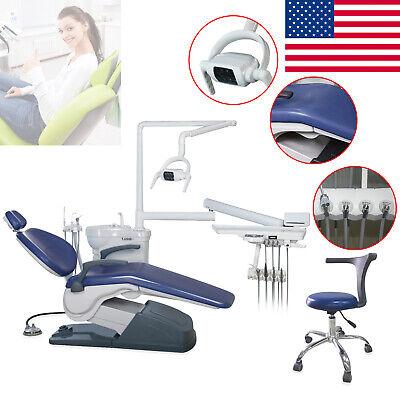 Tax Free Dental Chair Unit Computer Control W Stool Syringe Hve Light Viewer