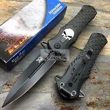 DARK SIDE BLADES Skull Punisher Black Tactical Rescue Pocket Knife DS-A014BK