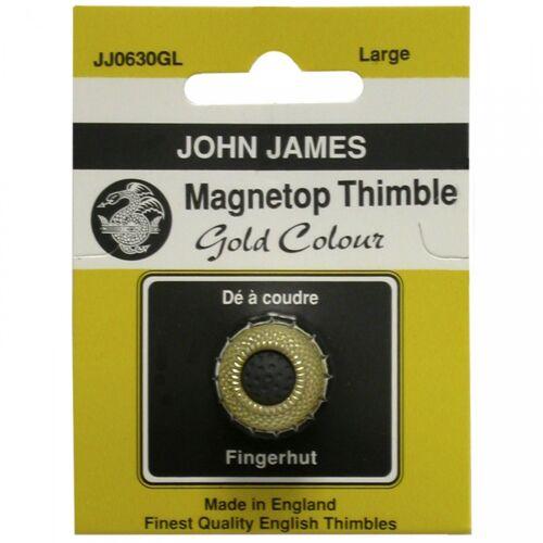 John James Magnetop Thimble Gold Color Size: Large, New!