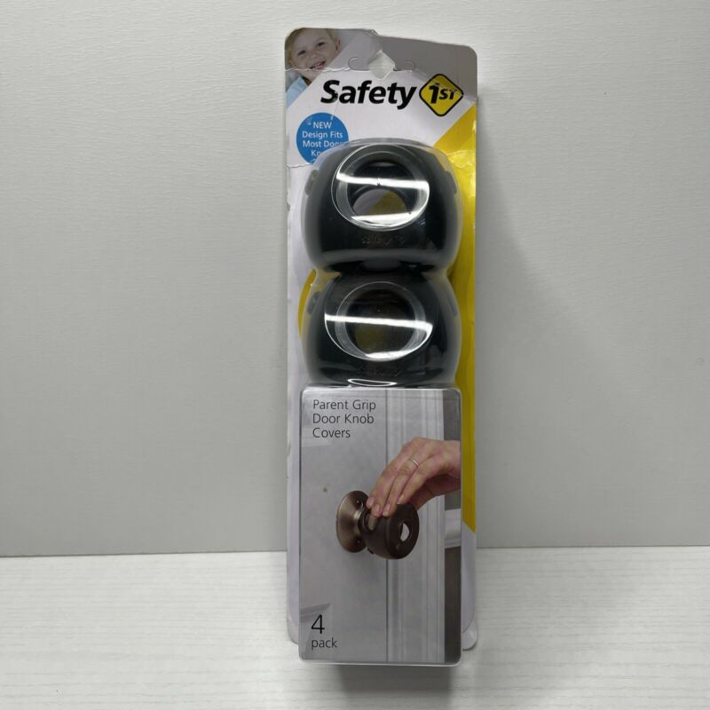 Safety 1st, 4 Pack, Charcoal, Parent Grip Door Knob Covers Child Lock