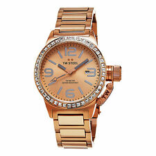 TW Steel Women's Canteen Rose Gold Tone Stainless Steel Quartz Date Watch TW305