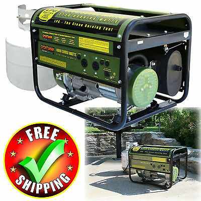 Generator 4000W Sportsman Propane Camping Portable 4 Stroke Gas Grill Style