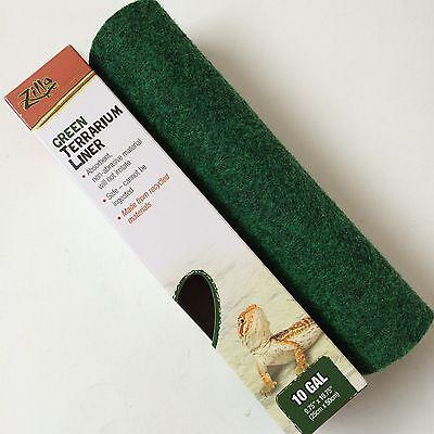 """Zilla 10 gallon Green Terrarium & Aquarium Liner Cage Carpet Mat size 10"""" x 20"""""""