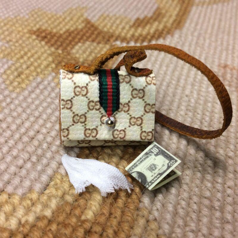 Pat Tyler Dollhouse Miniature Designer Purse Hand Bag Valise Pocketbook 712